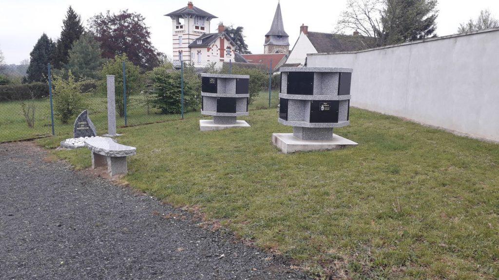 columbarium et jardin du souvenir du cimetière de La Chapelaude