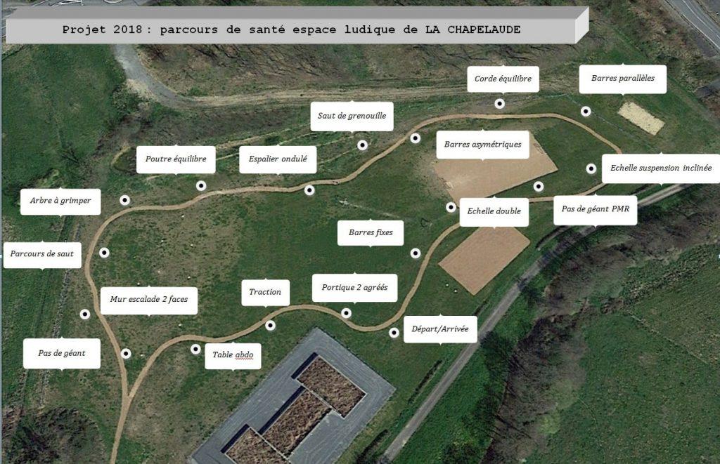 Parcours de santé espace ludique La Chapelaude